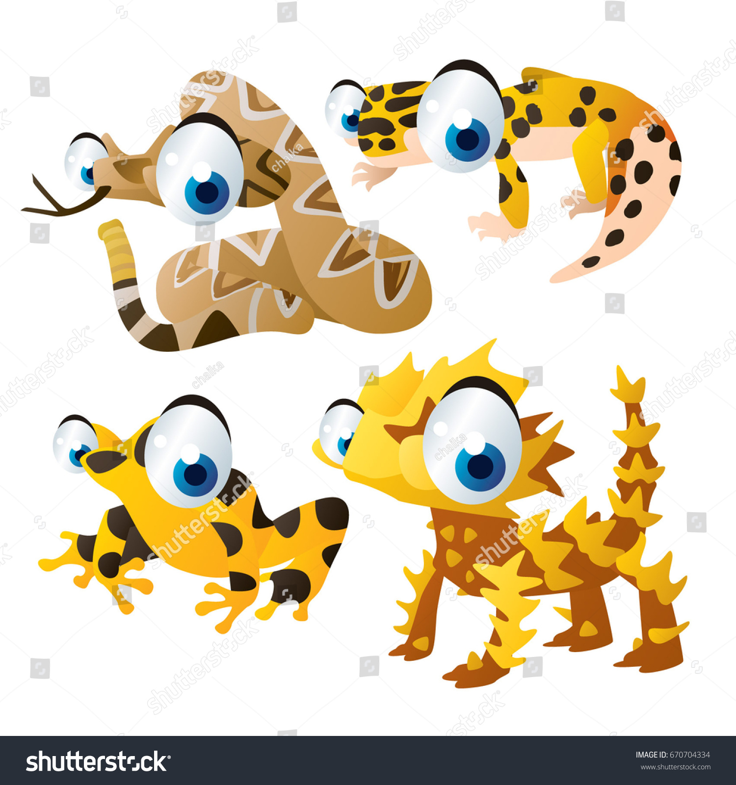 Vector Cartoon Animal Illustration Cute Funny Stock Vector ... for Clipart Leopard Cute  70ref