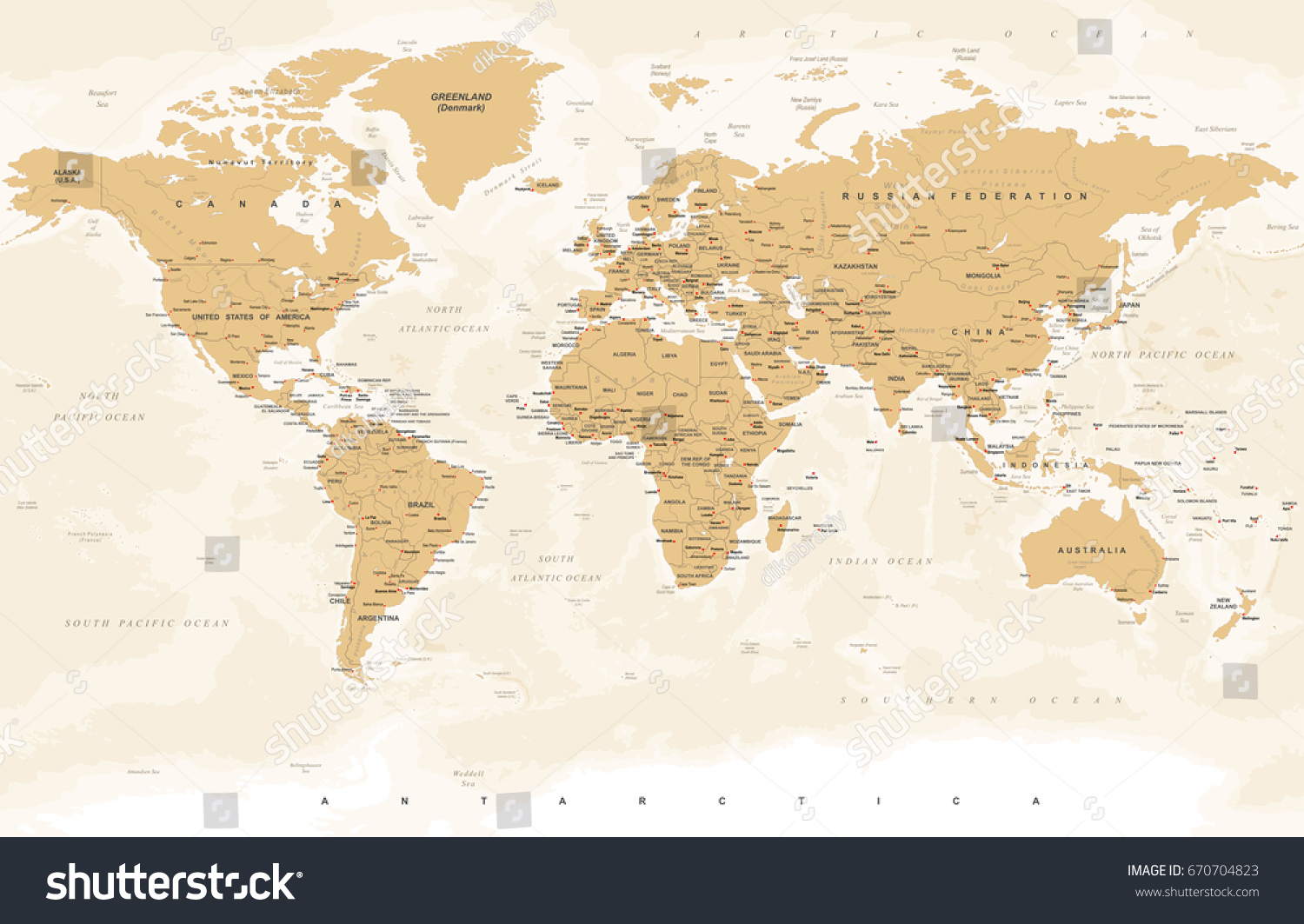 World map vintage style high detailed stock vector hd royalty free world map in vintage style high detailed worldmap illustration gumiabroncs Gallery
