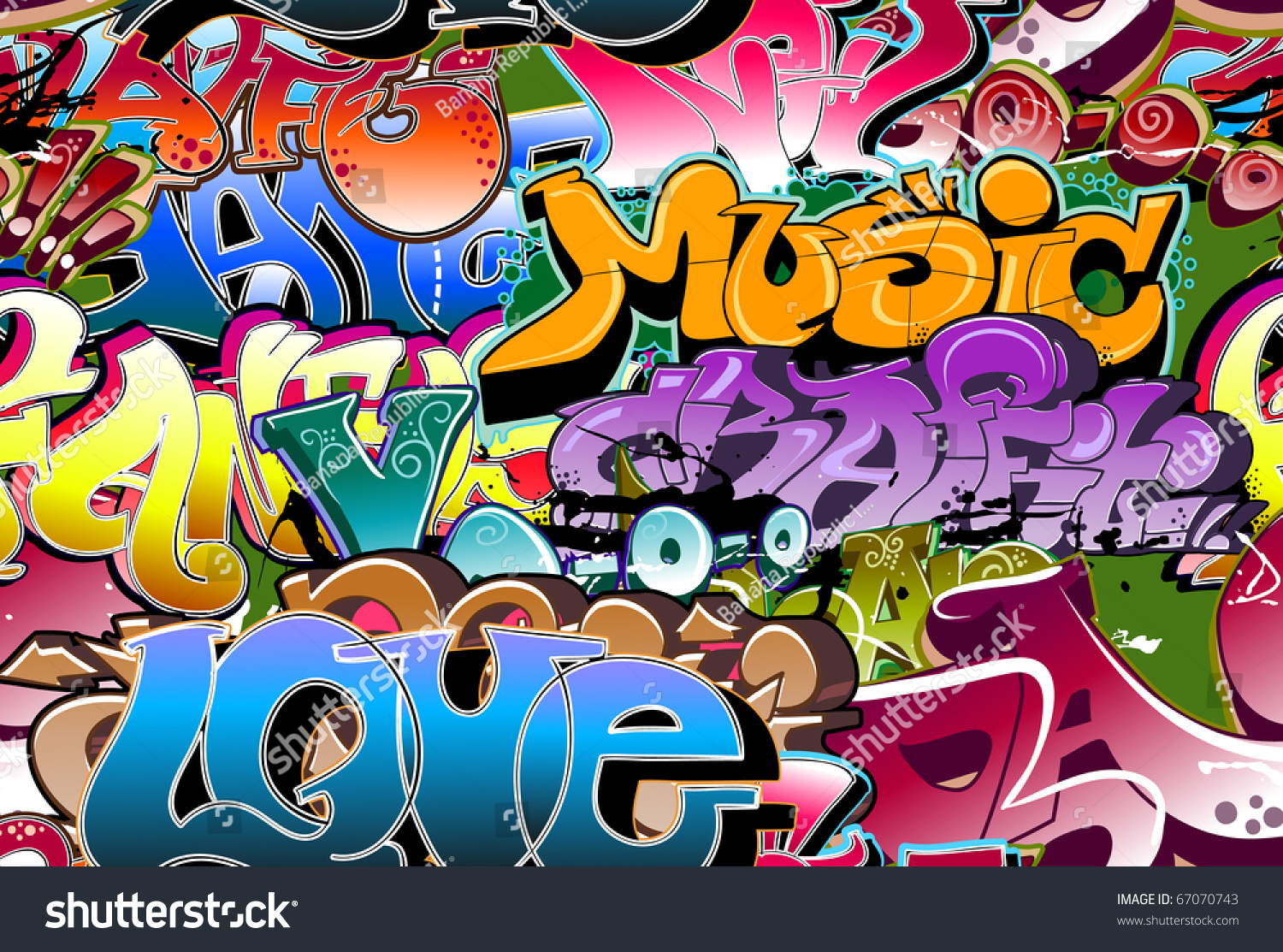 Grafitti wall background - Graffiti Urban Wall Background