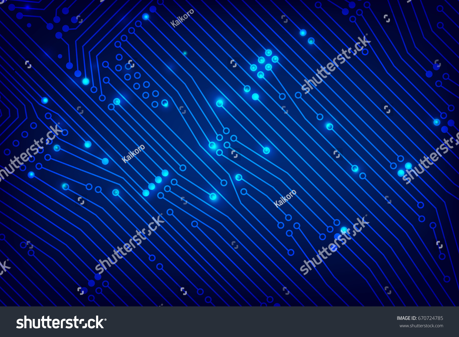 Abstract Dark Blue Background Print Circuit Stock Vector Royalty Printed Board Photos Images Pictures Shutterstock With Line And Dot Connection Element Illustration Eps10