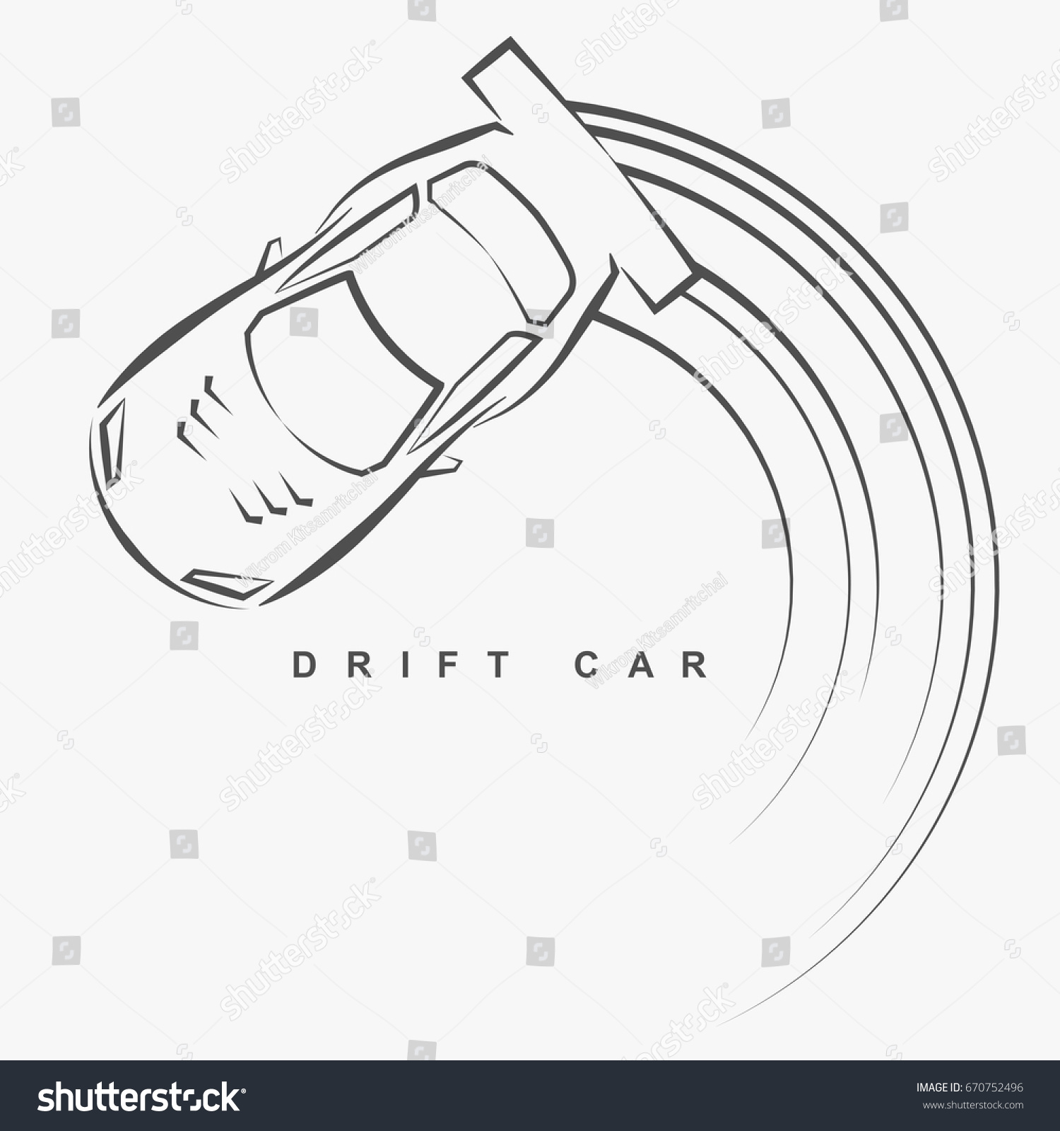 hand draw style drift car logo stock vector royalty free 670752496 Car System Diagram hand draw style of drift car logo from top view eps10 art vector