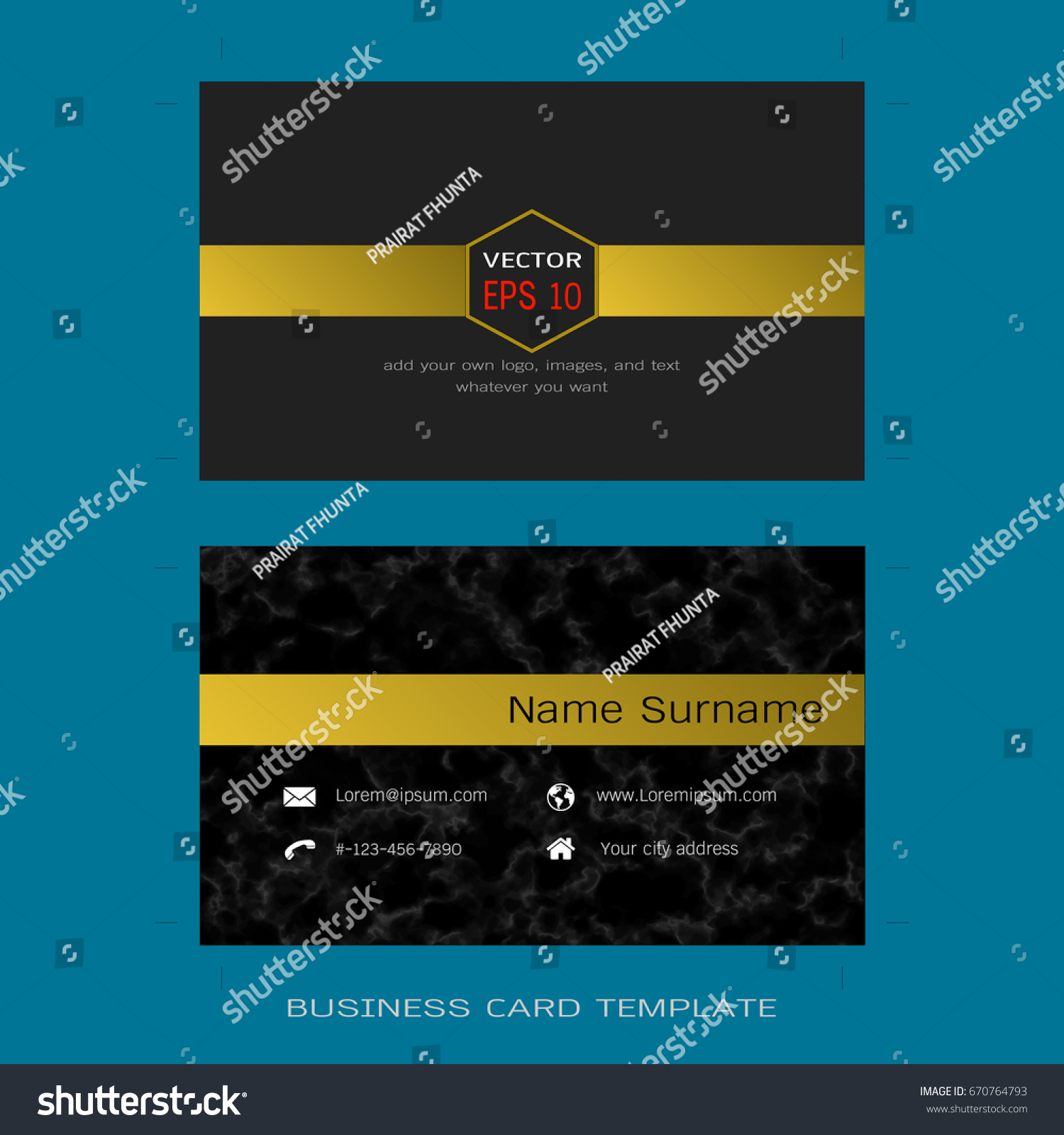 modern designer business card layout templates stock vector