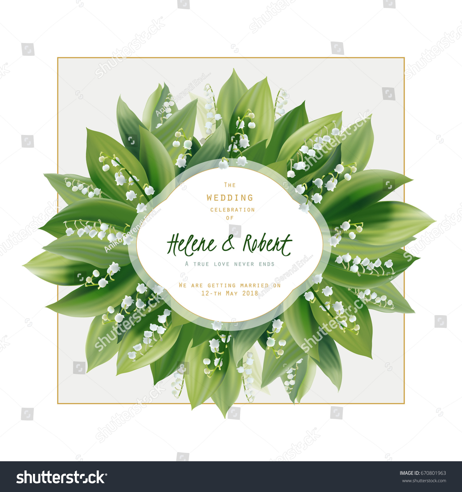 Spring Floral Greeting Card wedding Invitation Lily Stock Vector ...