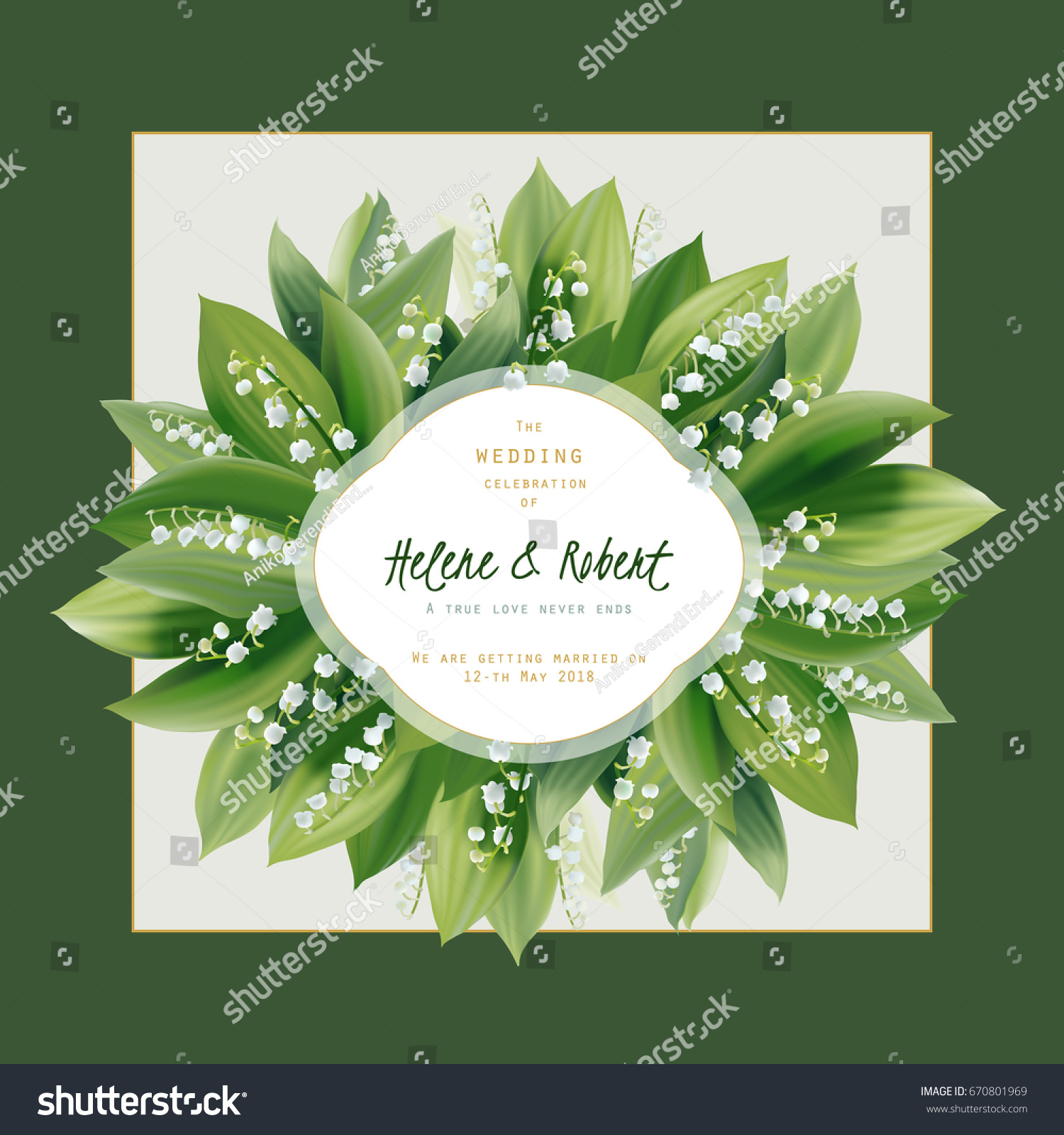 Spring Floral Greeting Card Wedding Invitation Stock Vector HD ...
