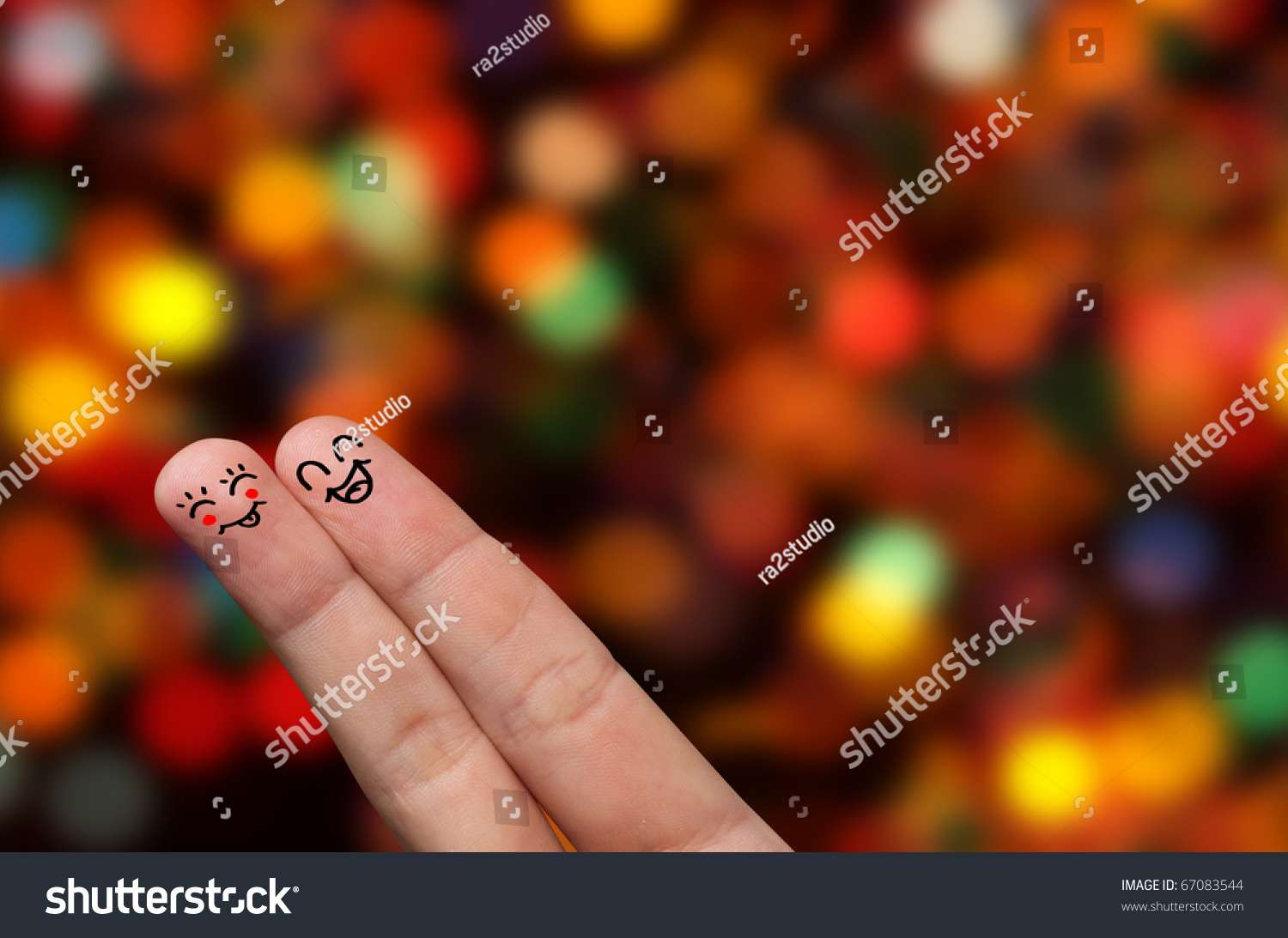 finger hug abstract lights painted smiley stock photo edit now