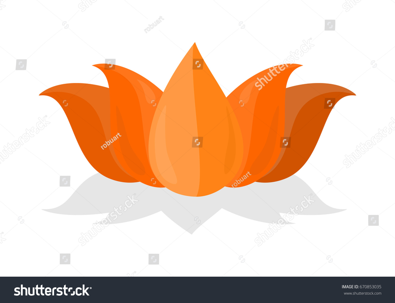 Lotus Flower Isolated On White Background Stock Illustration