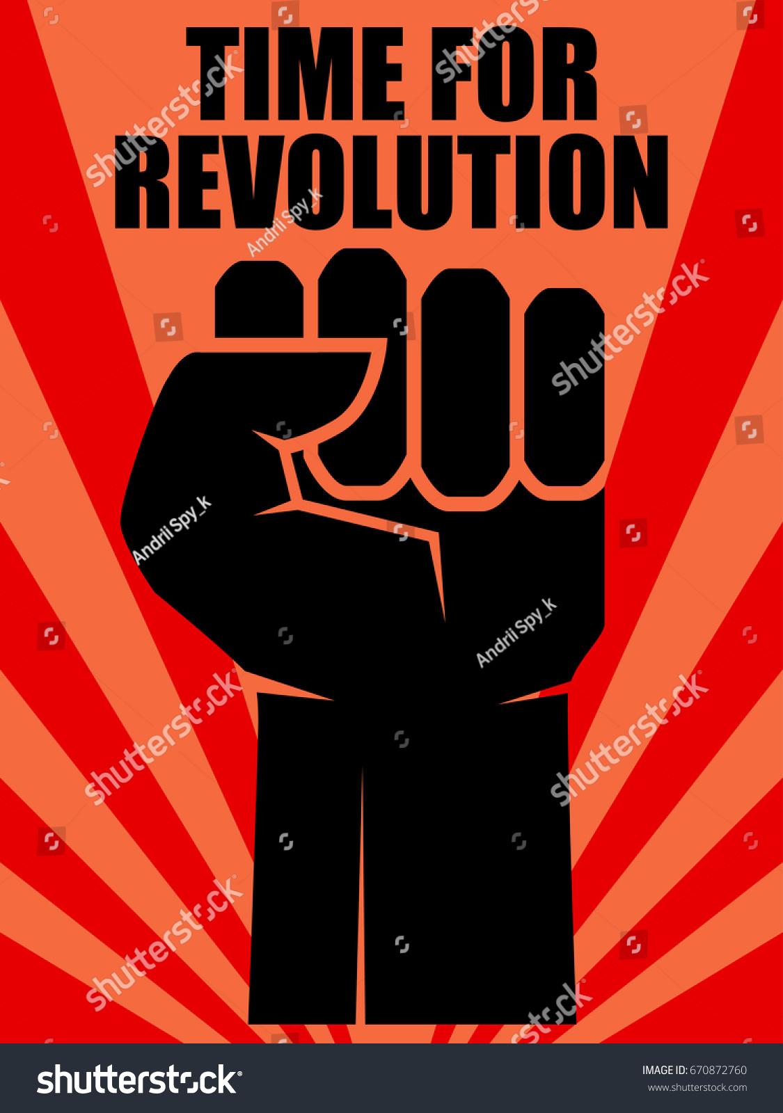 fist revolution human hand up concept revolution stock vector