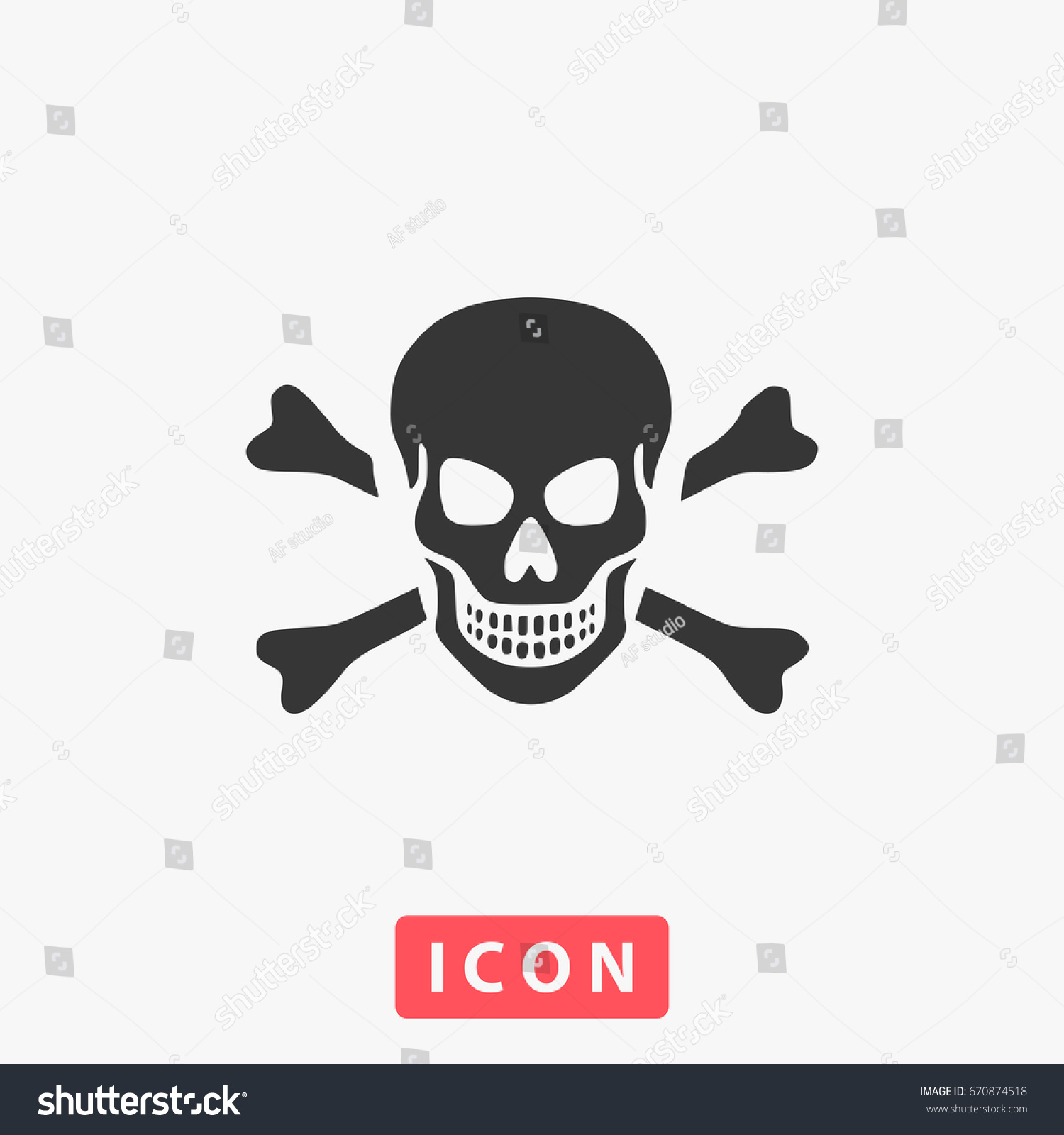 Skull icon illustration flat symbol simple stock illustration skull icon illustration flat symbol simple pictogram and text buycottarizona Images