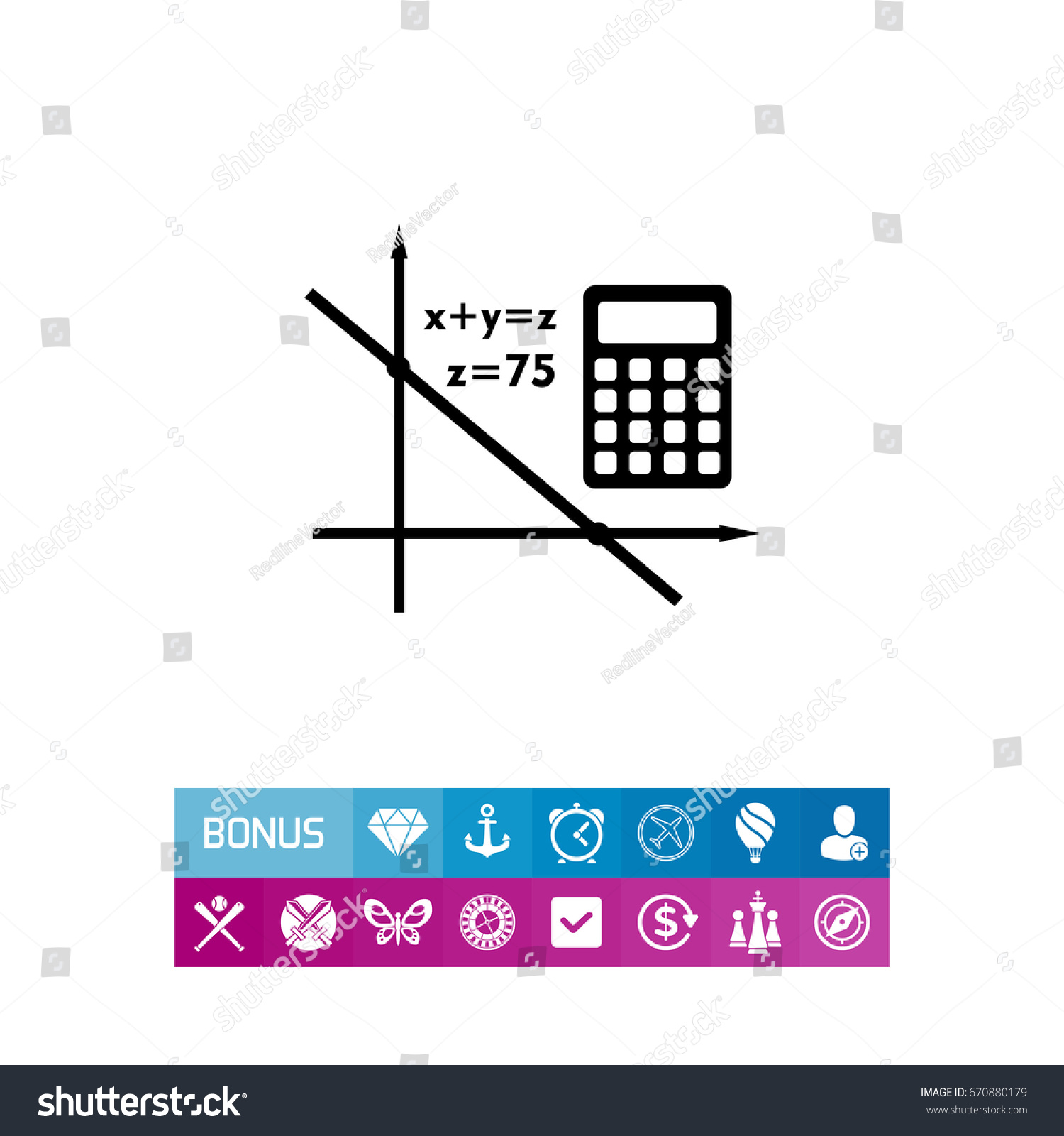Algebra Simple Icon Stock Vector HD (Royalty Free) 670880179 ...