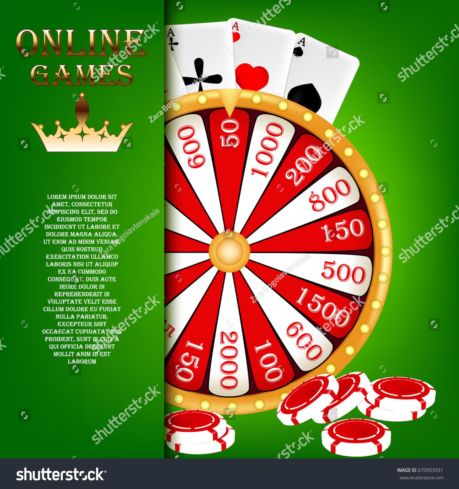 Screensaver Online Gambling Wheel Fortune Casino Stock Vector Royalty Free 670953931