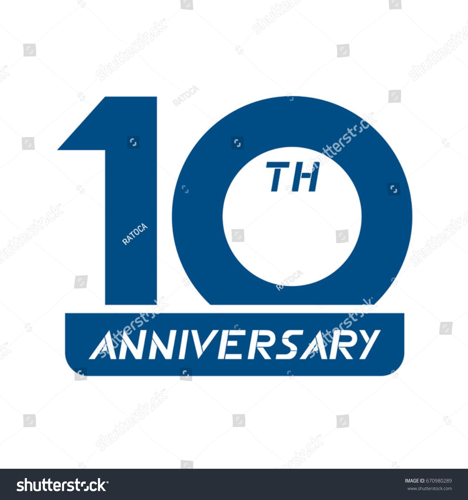 10th Anniversary Symbol Stock Vector Royalty Free 670980289