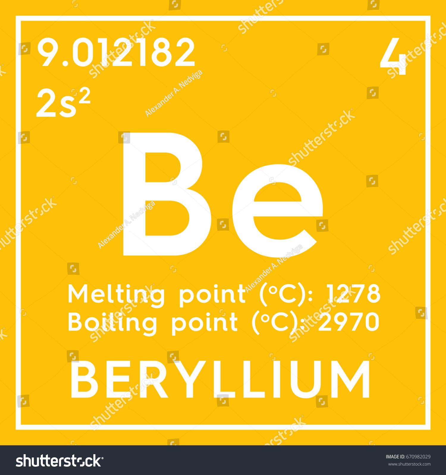 Beryllium alkaline earth metals chemical element stock alkaline earth metals chemical element of mendeleevs periodic table beryllium in square gamestrikefo Choice Image