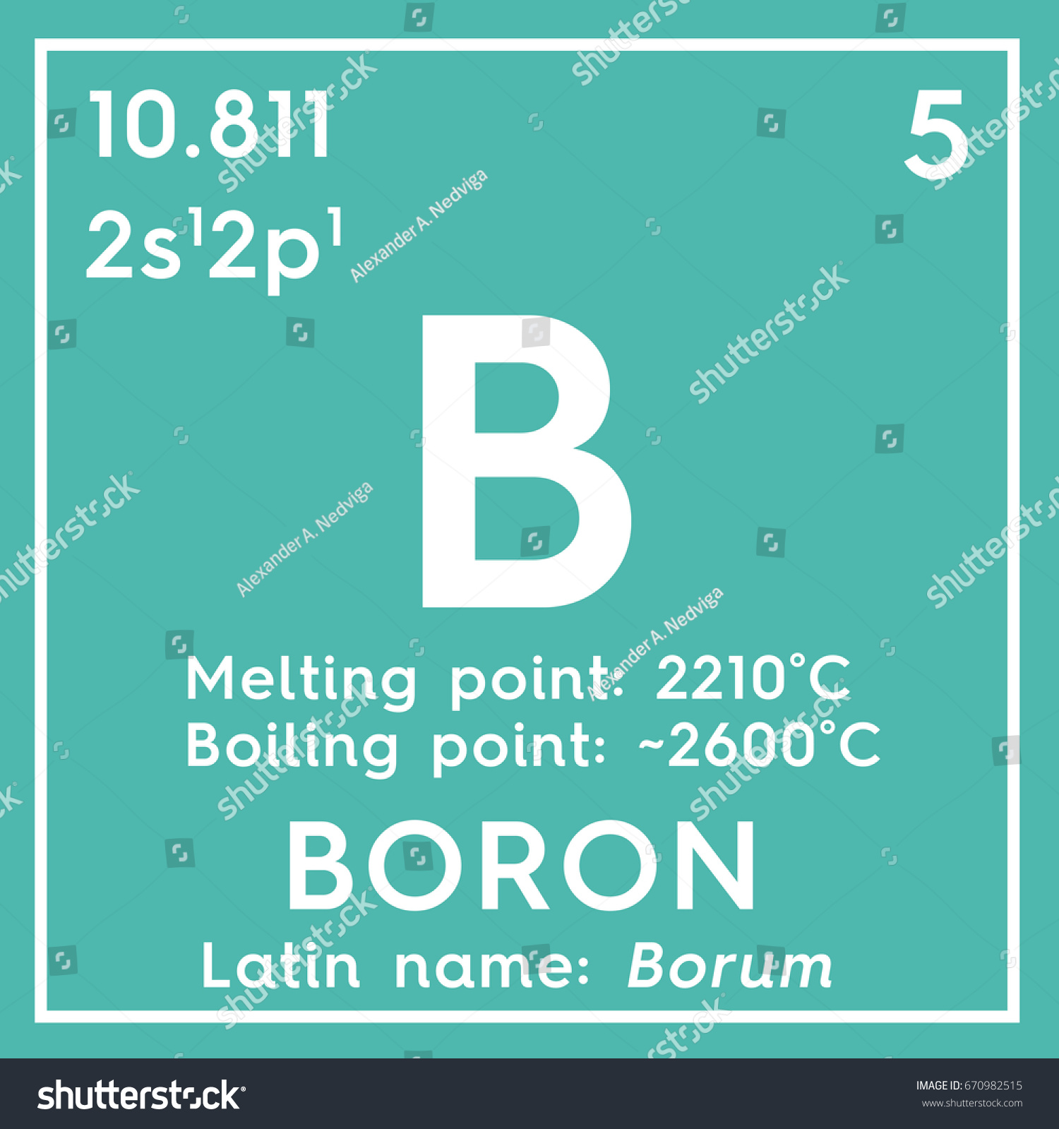 Boron chemical element mendeleevs periodic table stock chemical element of mendeleevs periodic table boron in square cube creative concept gamestrikefo Images