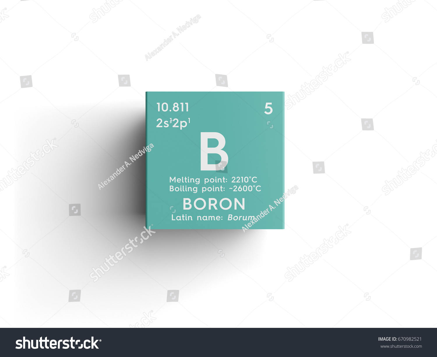 Boron chemical element mendeleevs periodic table stock boron chemical element of mendeleevs periodic table boron in square cube creative concept buycottarizona