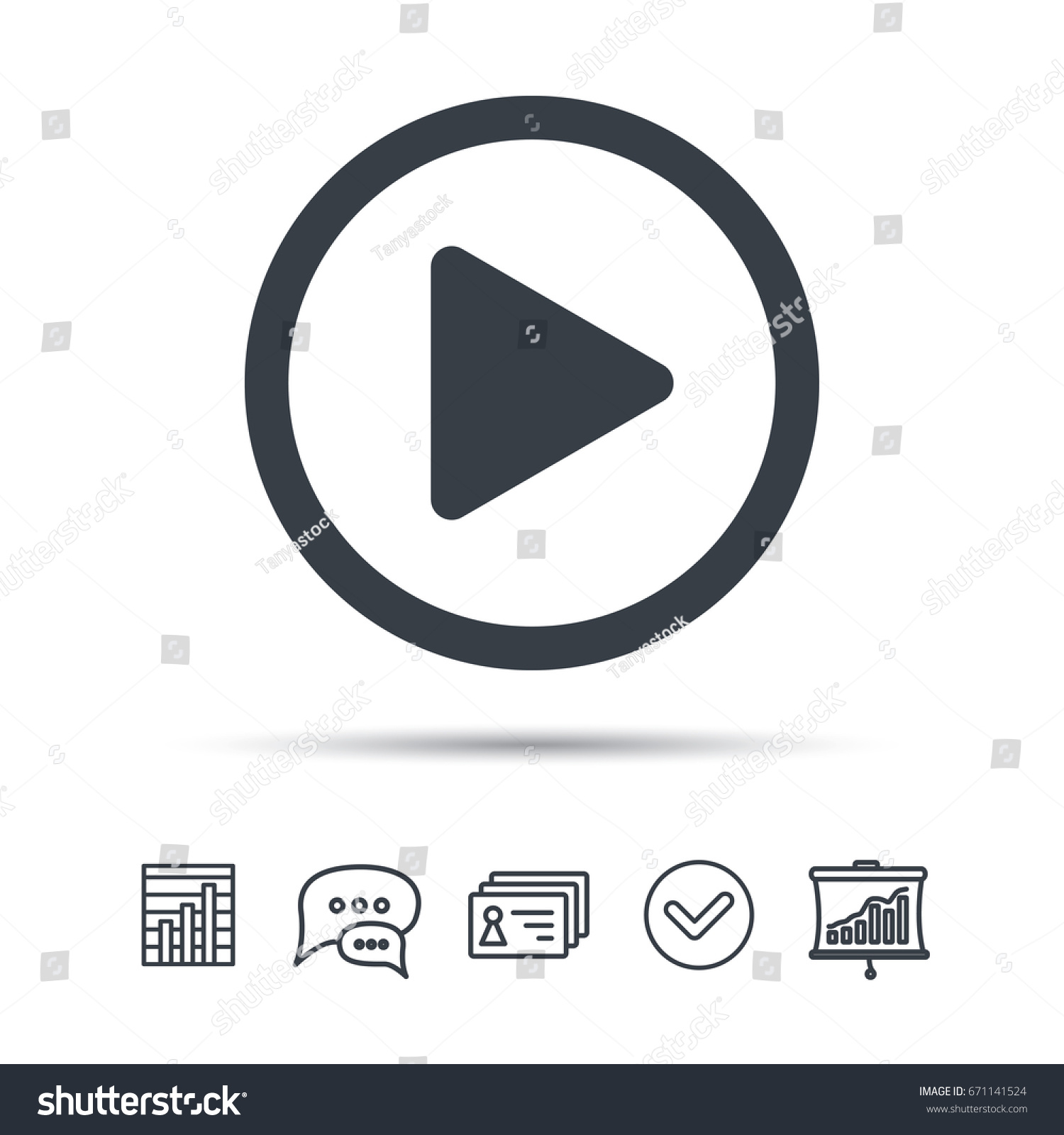Play Icon Audio Video Player Symbol Stock Vector Hd Royalty Free