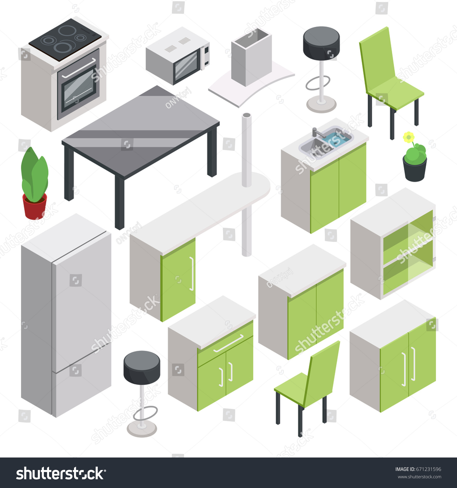 3d room design vector isometric furniture stock vector for Room design vector