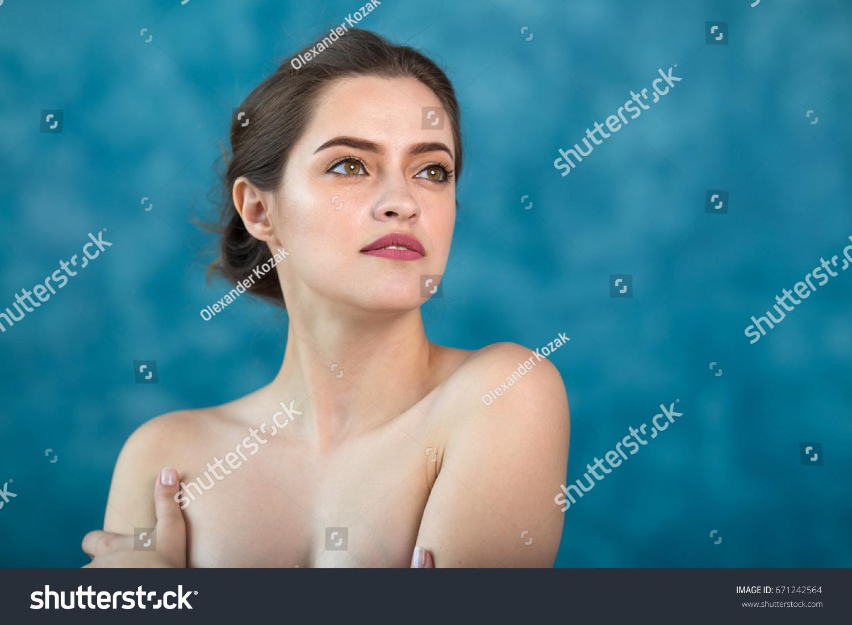 Young girls swimming naked close ups