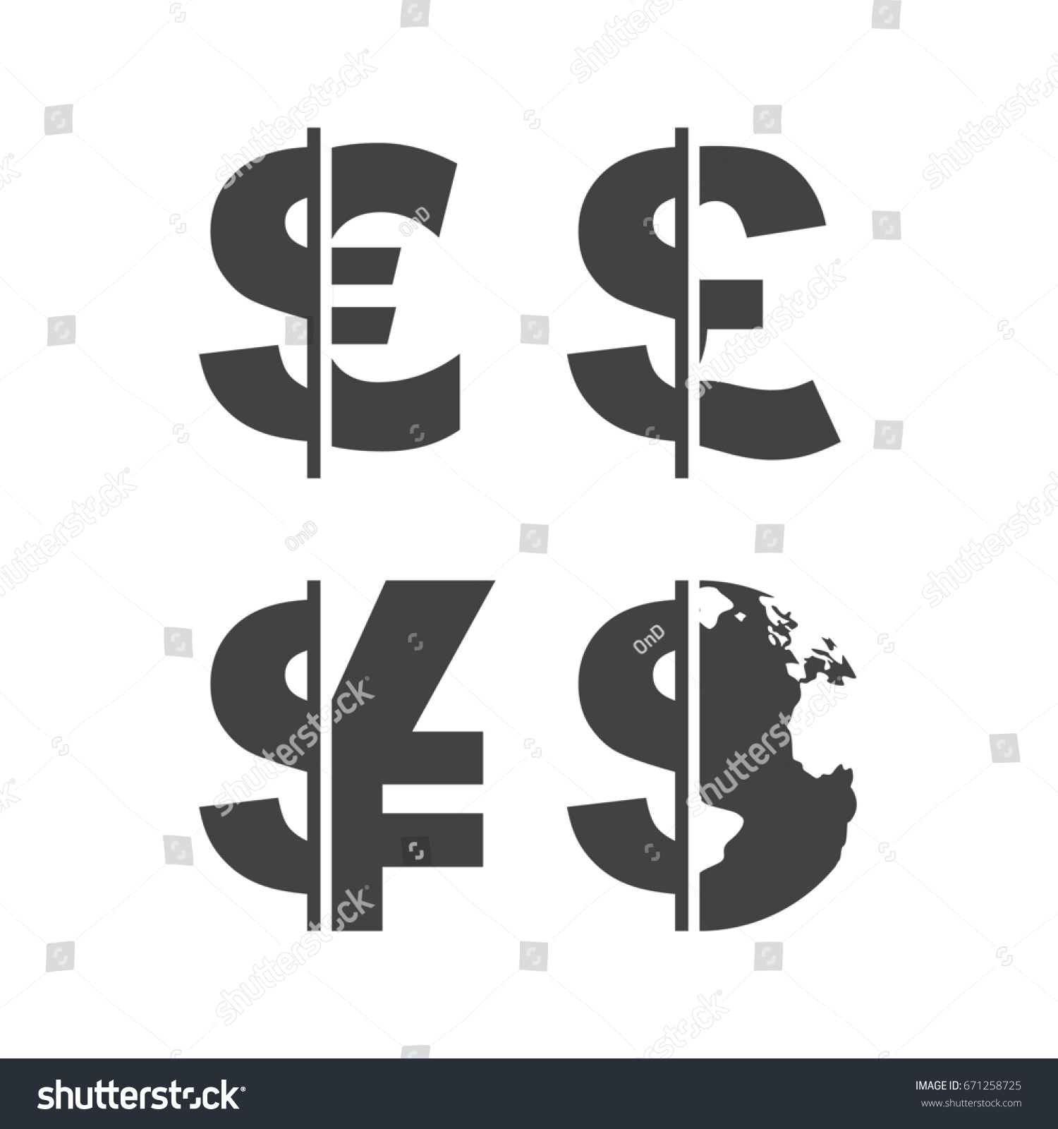 Royalty Free Stock Illustration Of Currency Exchange Icons Set
