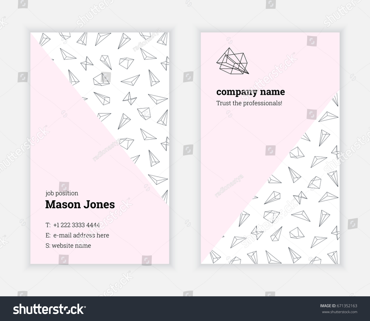 Standard Business Card Template Eliolera