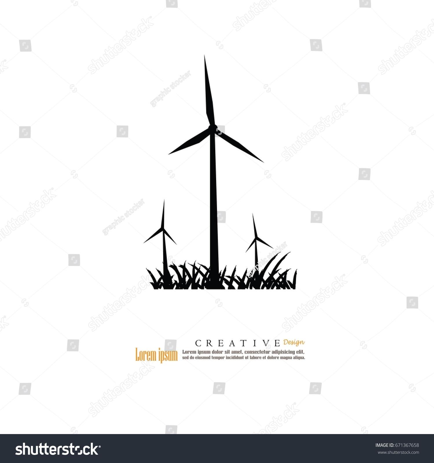 Windturbine Iconvector Illustration Stock Vector 671367658 ...