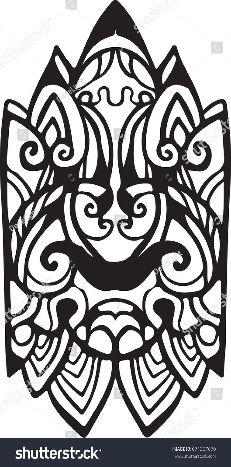 Nordic Ornament Stock Vector 671367670