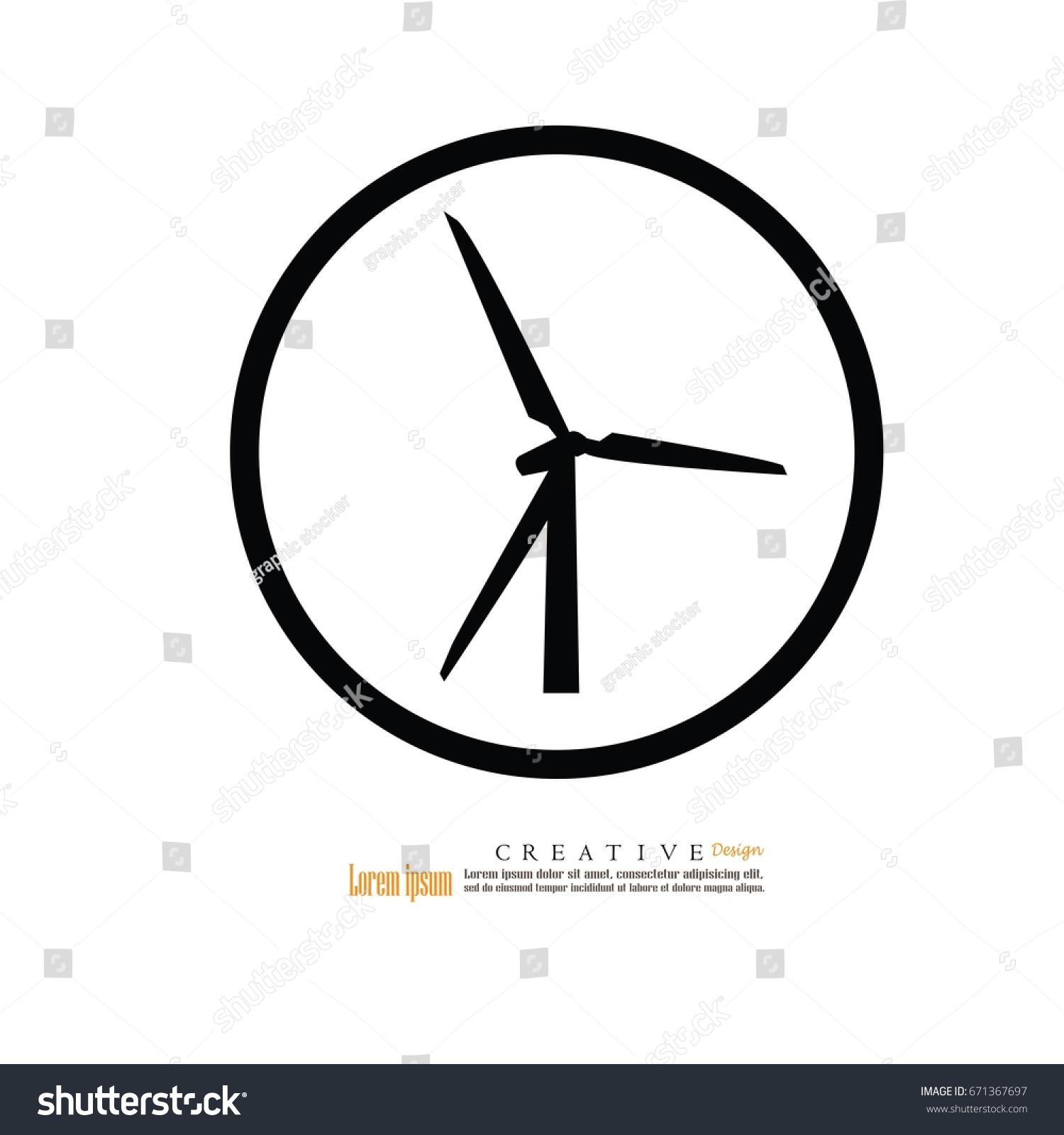 Windturbine Iconvector Illustration Stock Vector 671367697 ...