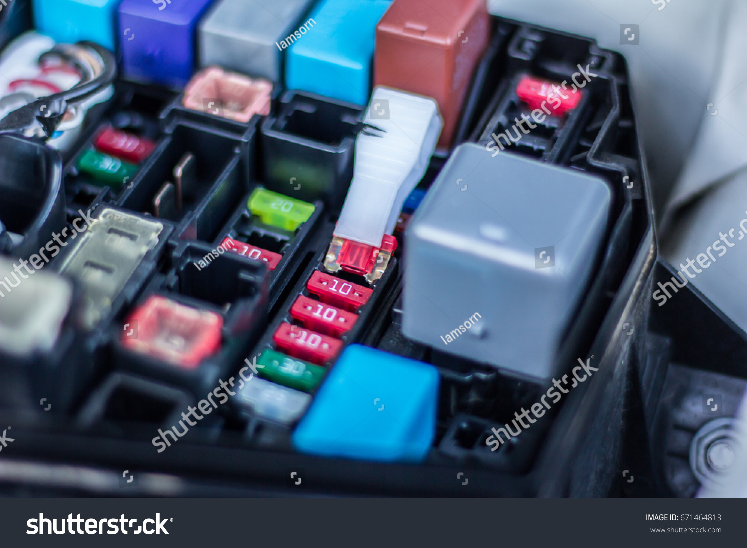 Remove the fuse in fuse box of the car