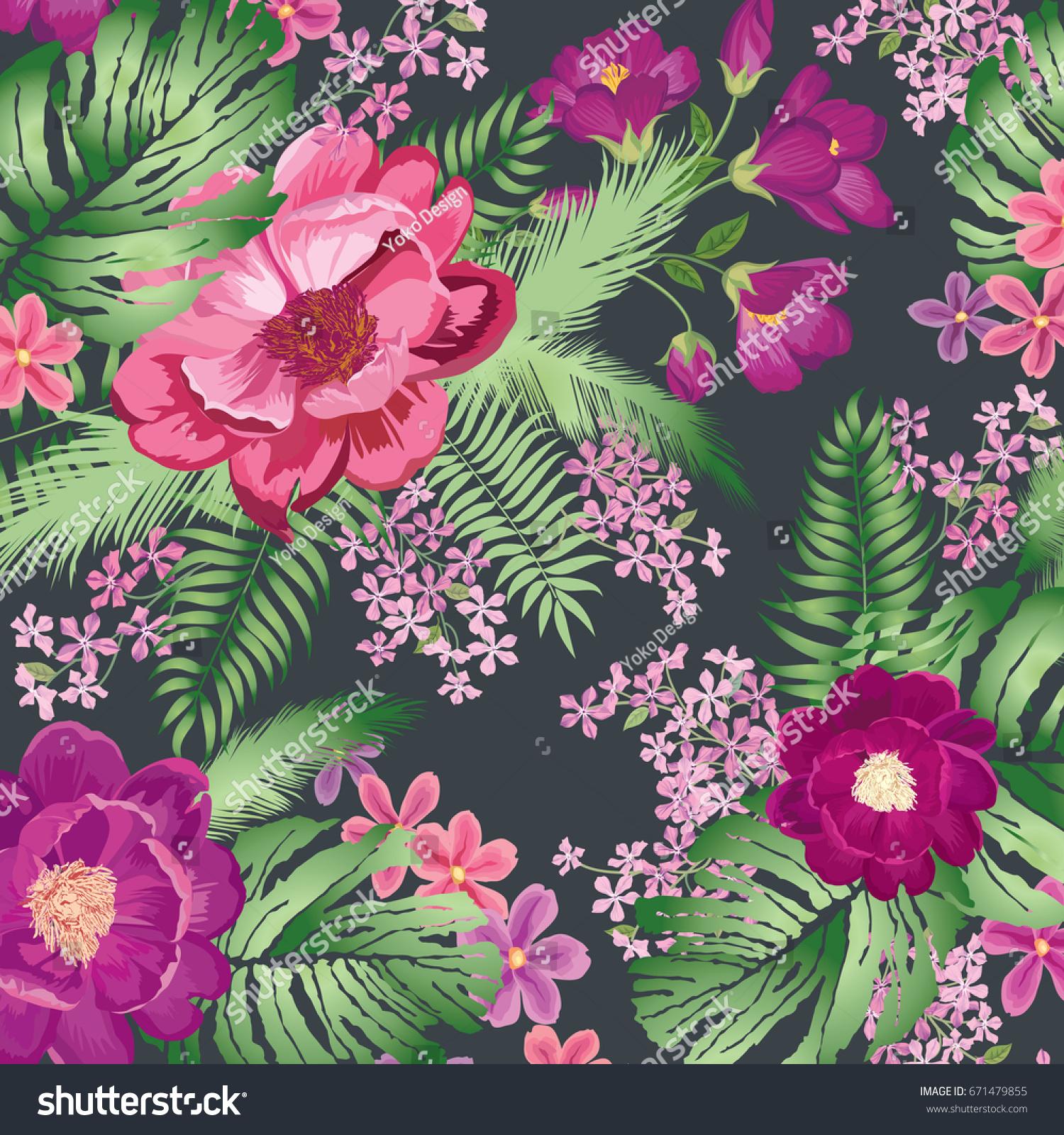 Floral pattern abstract flower bouquet background stock vector floral pattern abstract flower bouquet background spring garden flourish decor izmirmasajfo