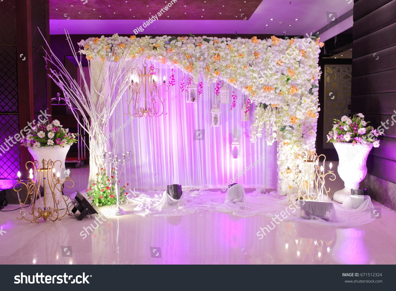 Wedding Decoration Element Lights Entrance Gate Stock Photo (Edit ...