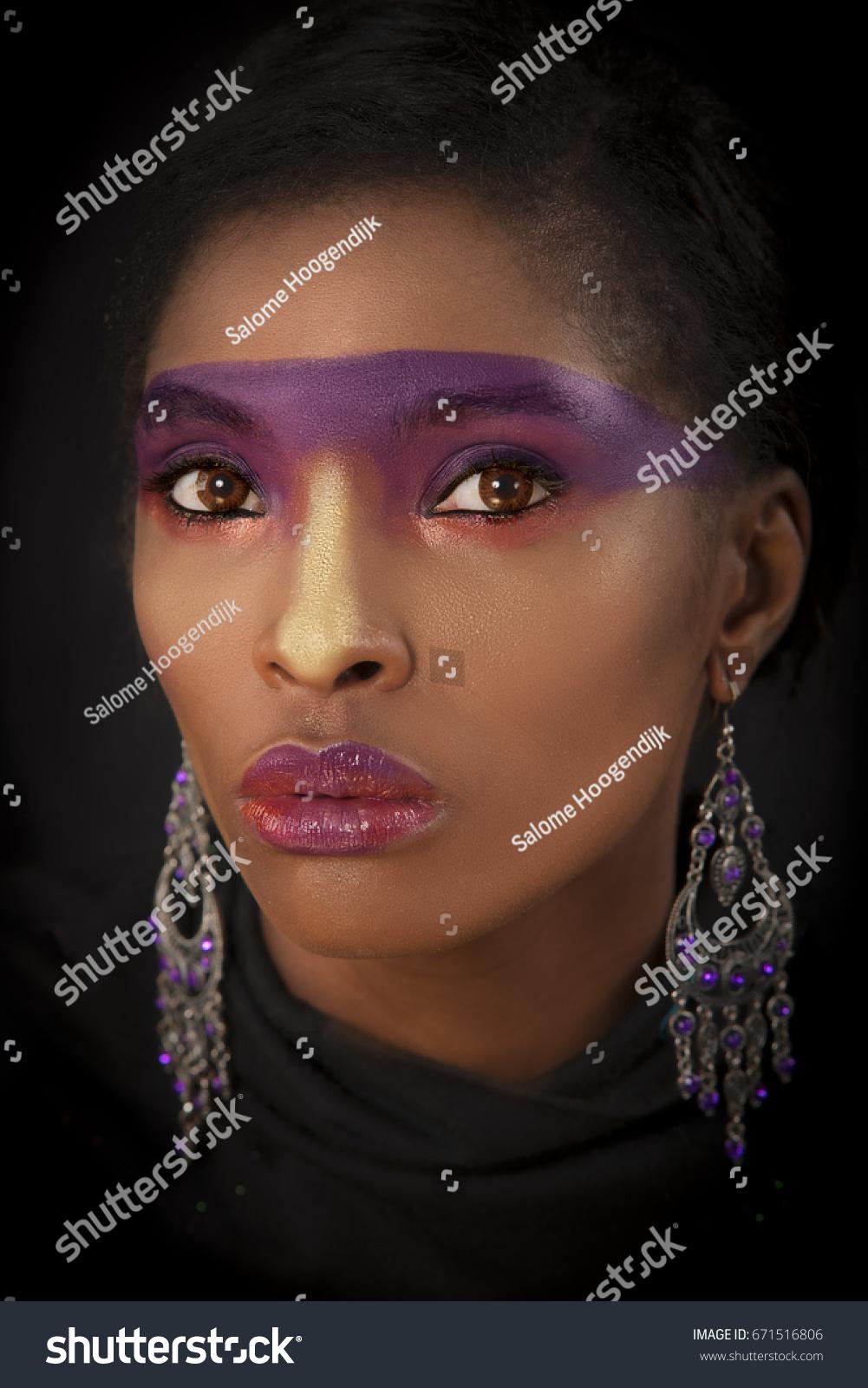 Color Portrait Beautiful Regal African Woman Stock Photo Edit Now
