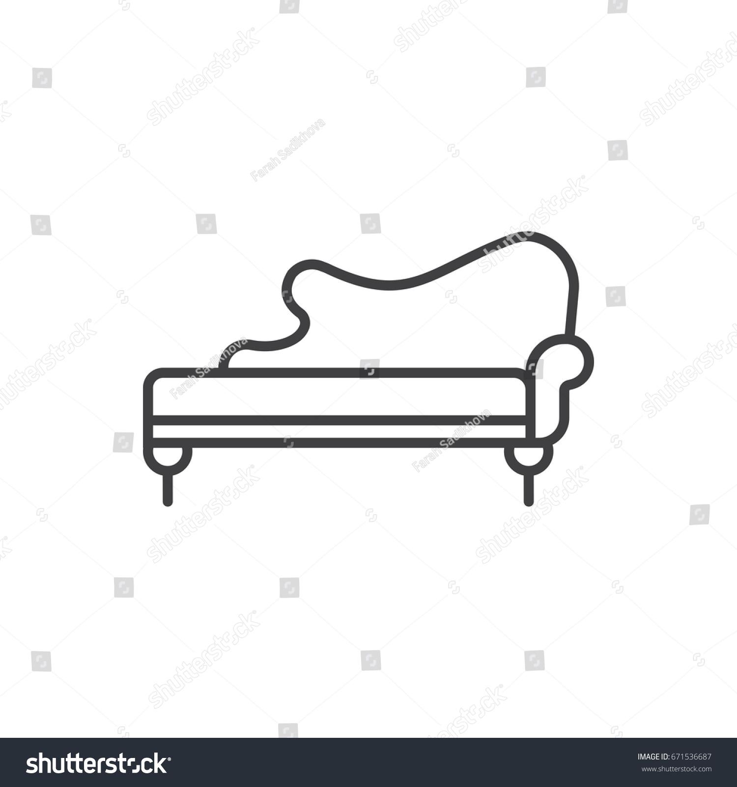 Amazing Chaise Lounge Line Icon Vintage Sofa Stock Vector Royalty Creativecarmelina Interior Chair Design Creativecarmelinacom