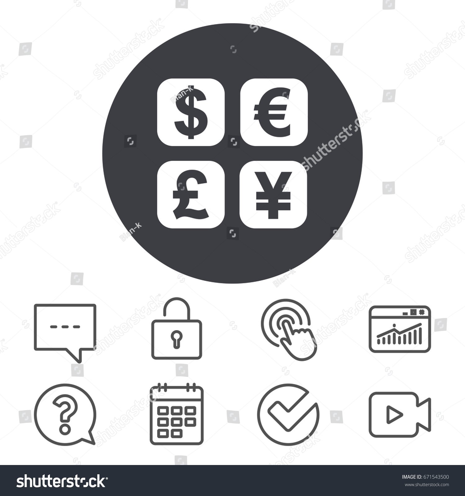 Currency exchange sign icon currency converter stock vector currency exchange sign icon currency converter symbol money label calendar locker and biocorpaavc Gallery
