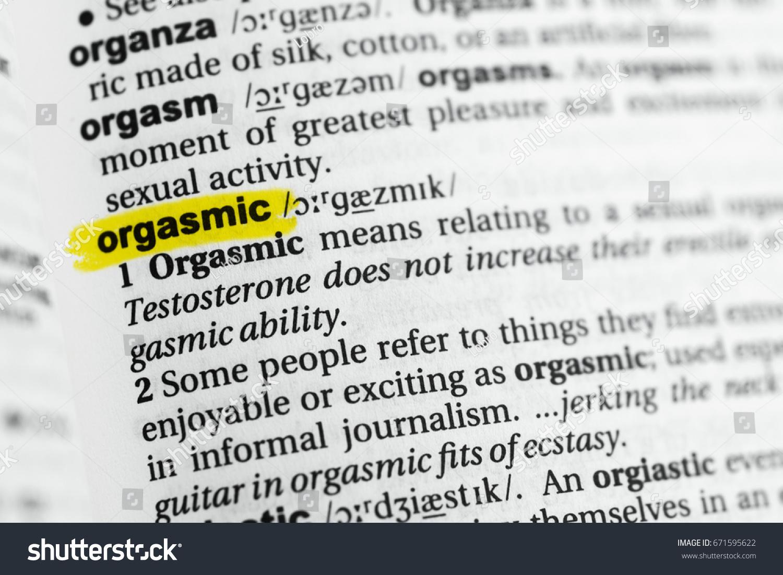 Sorry, definition of an orgasm