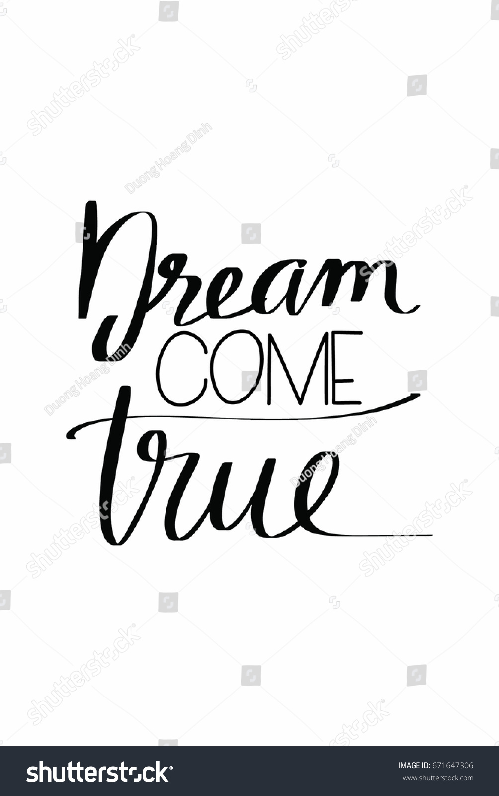 Lettering quotes motivation about life quote stock vector lettering quotes motivation about life quote calligraphy inspirational quote dream come true altavistaventures Image collections