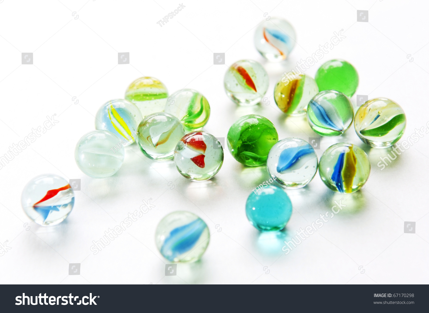 Bright Colored Marbles : Brightly colored marbles different shades on stock photo