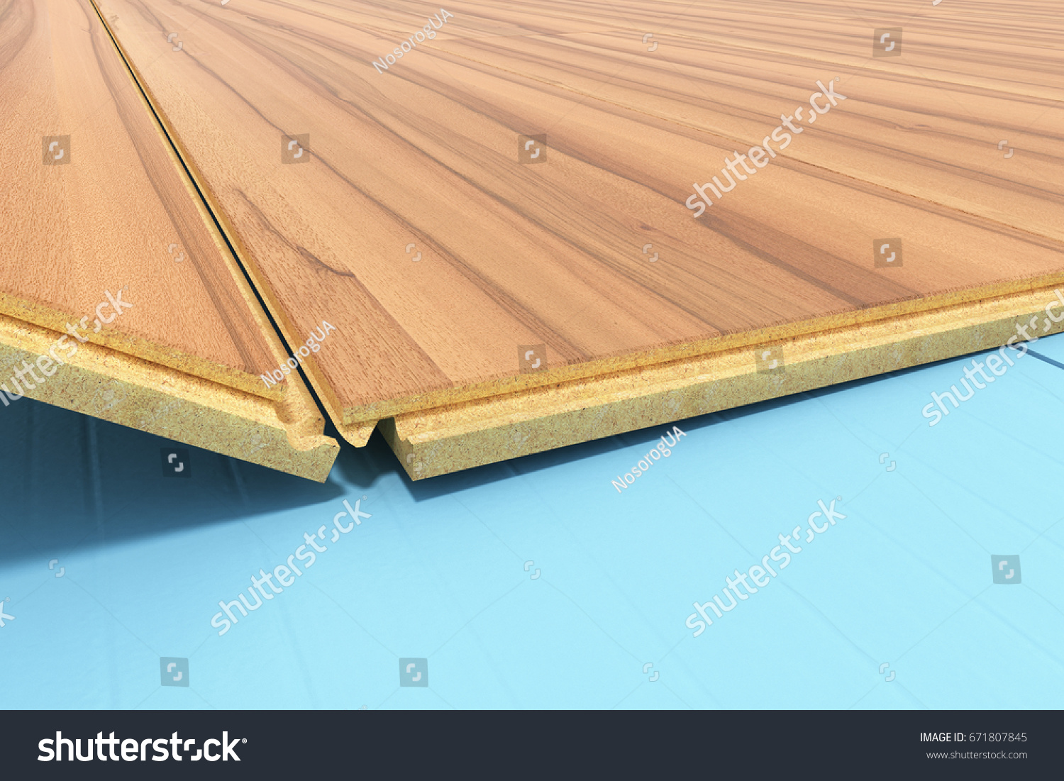 Installing Wooden Laminate Flooring With Insulation And Soundproofing  Sheets Laying Laminate Flooring Step By Step 3d