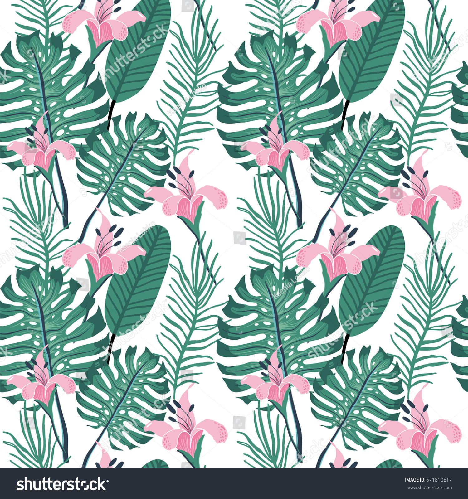 Beautiful Seamless Floral Summer Pattern Background Backgrounds