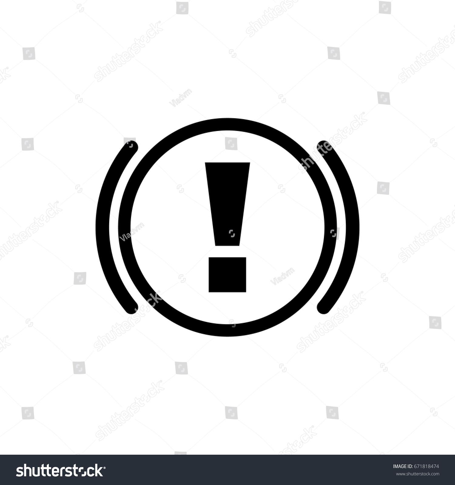 Abs Icon Brake Car Symbol Flat Stock Vector Royalty Free 671818474