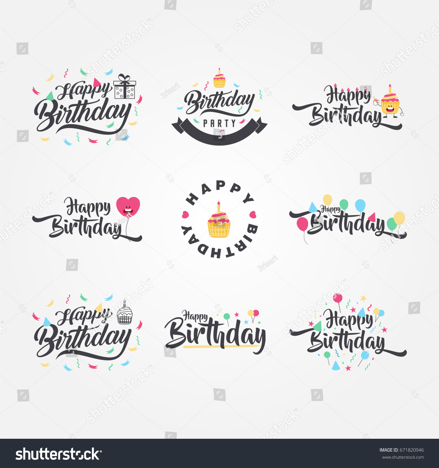 Cute And Funny Happy Birthday Typography Calligraphy Vector Design For Greeting Cards Poster