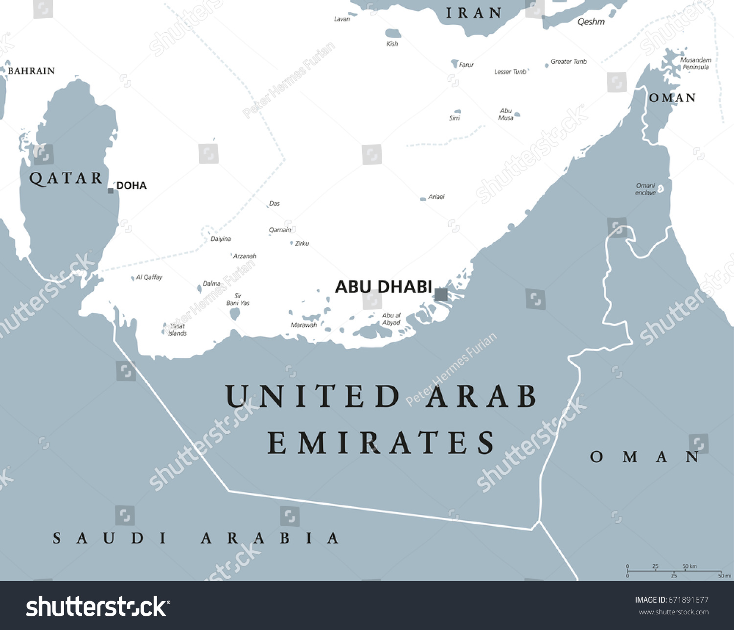 United arab emirates political map capital vectores en stock united arab emirates political map with capital abu dhabi uae emirates a monarchy gumiabroncs Gallery