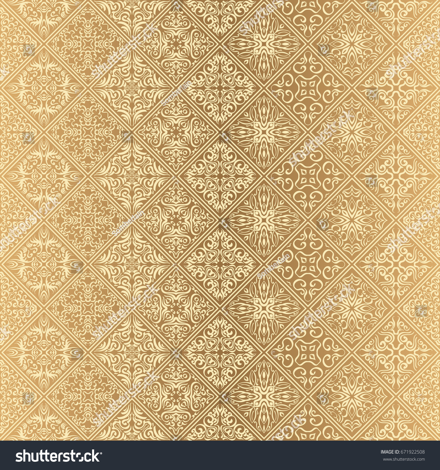 Royal Wallpaper Seamless Floral Pattern Luxury 671922508