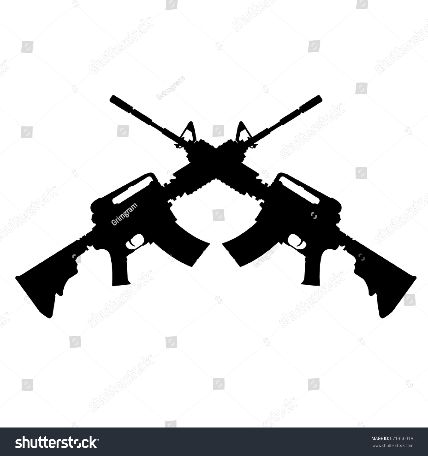 Ar15 Stock Images, Royalty-Free Images & Vectors ...  Crossed Guns M4