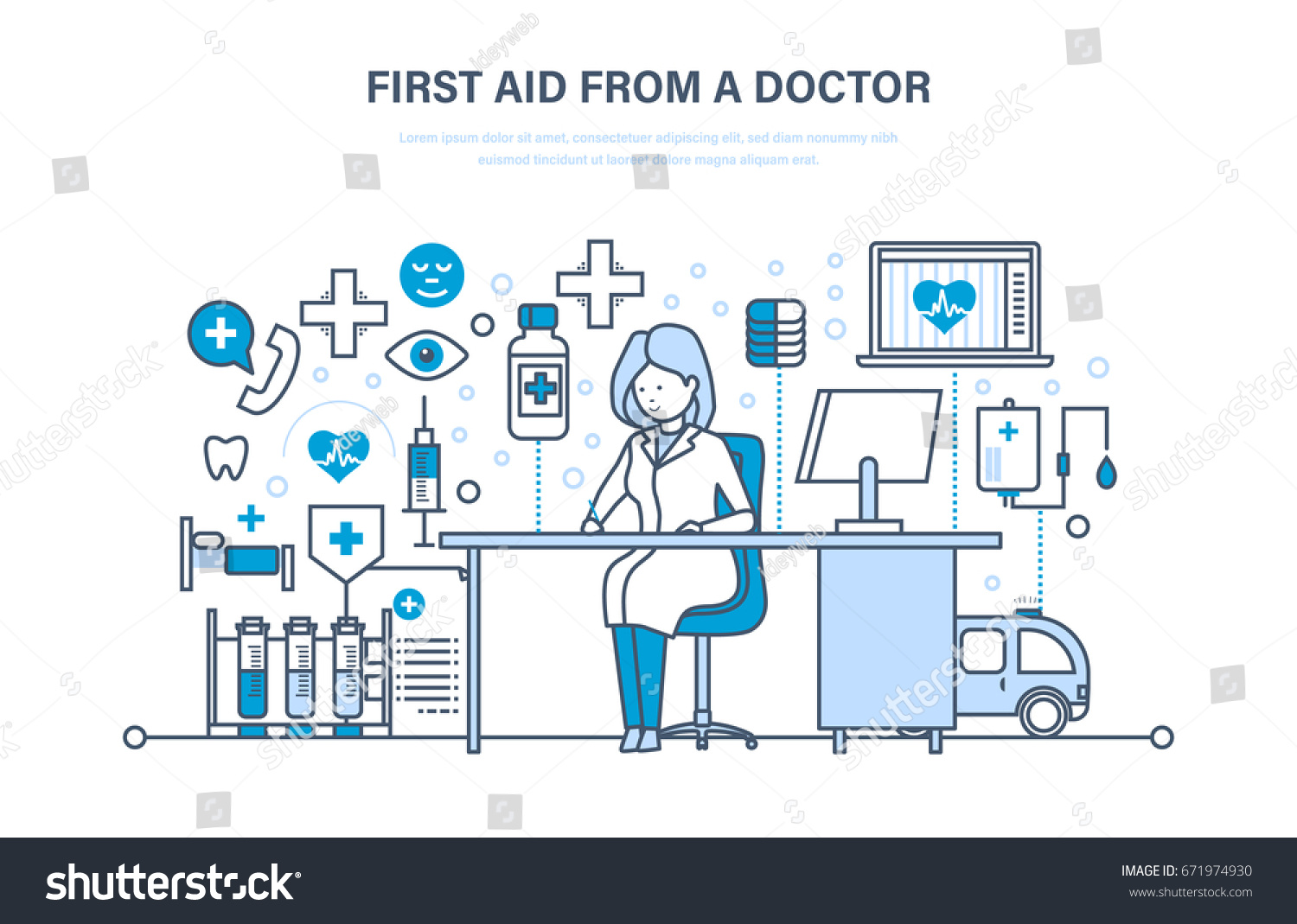 First Aid Doctor Modern Medicine Medical Stock Vector (Royalty Free ...