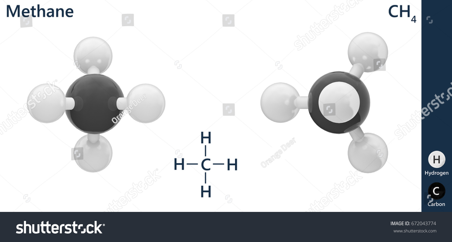 Structural chemical formula molecular structure methanech4 stock structural chemical formula and molecular structure of methanech4 3d illustration isolated biocorpaavc Gallery