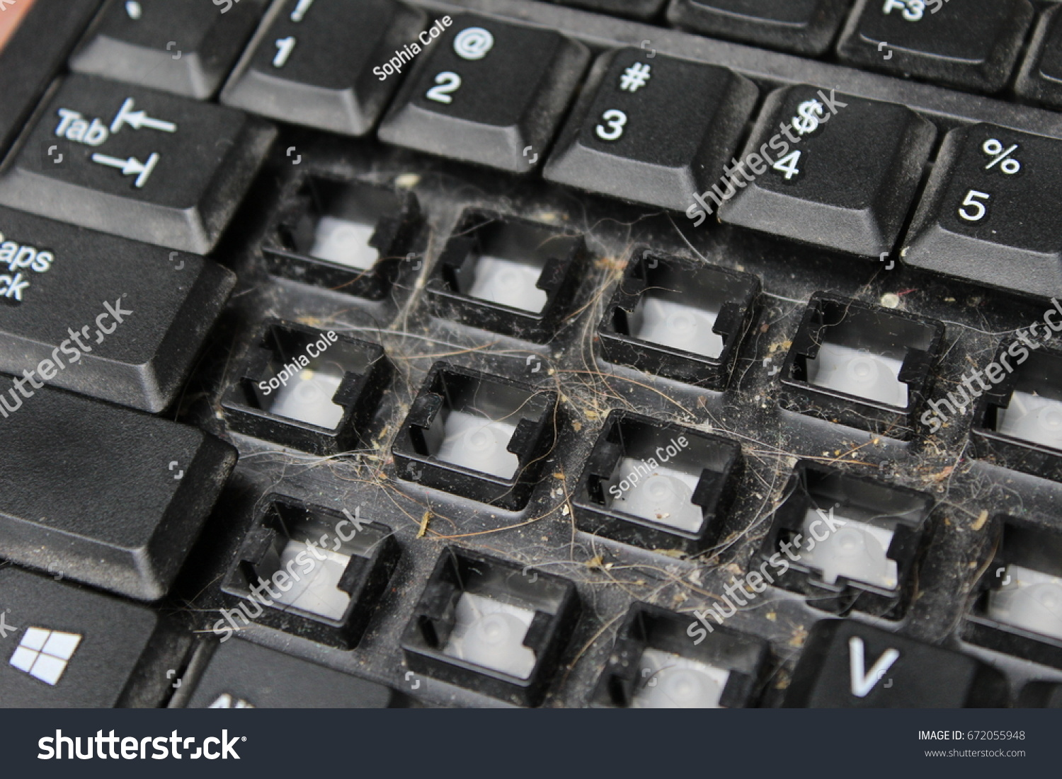 Keys Removed Keyboard Dirty Keyboard Dust Stock Photo Download Now