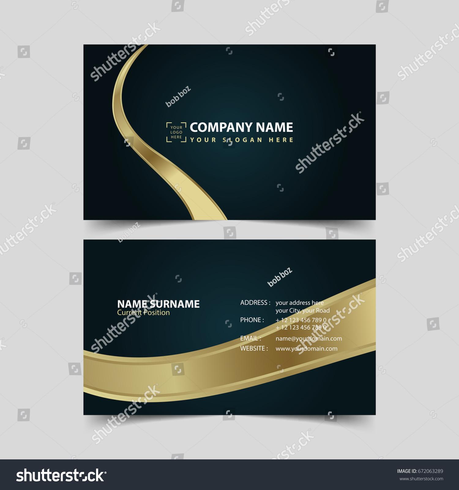Business card design template stock vector 2018 672063289 business card design template fbccfo Choice Image