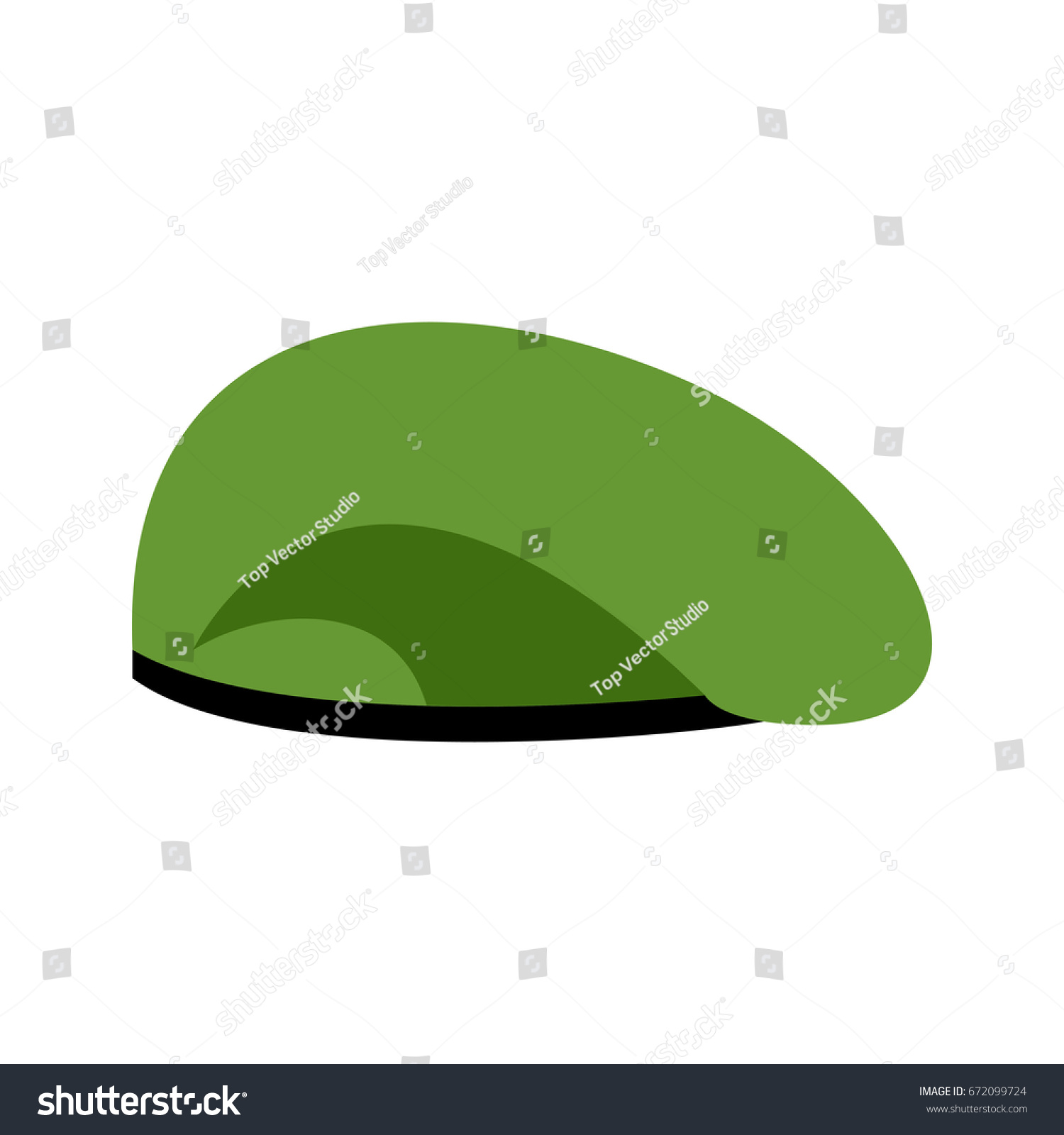 fc921e56ec9 Beret Military Green Soldiers Cap Army Stock Illustration 672099724 ...