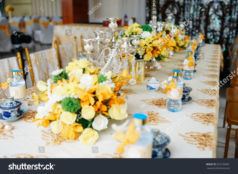 Wedding decoration tradition vietnam yellow tone stock photo wedding decoration tradition in vietnam with yellow tone junglespirit Gallery