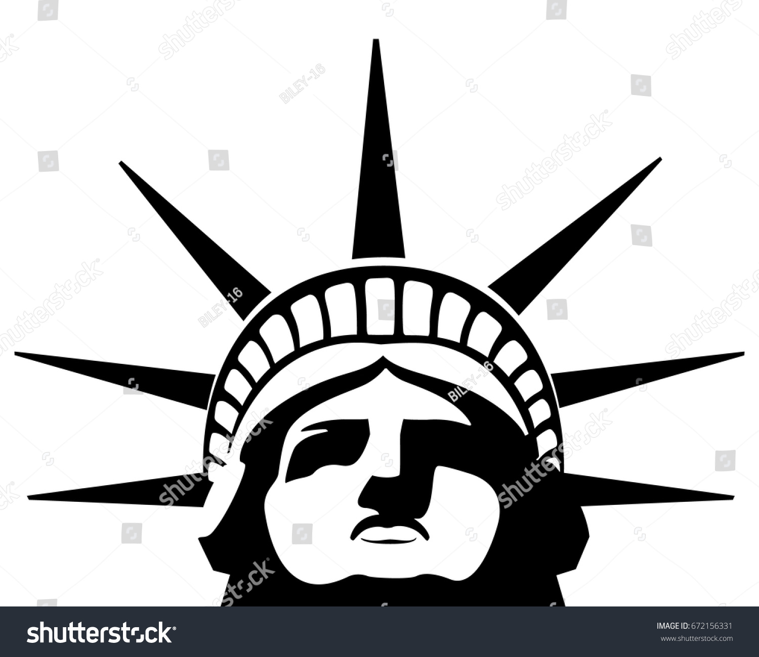 black white portrait statue liberty usa stock vector 672156331 rh shutterstock com statue of liberty lego instructions statue of liberty coloring