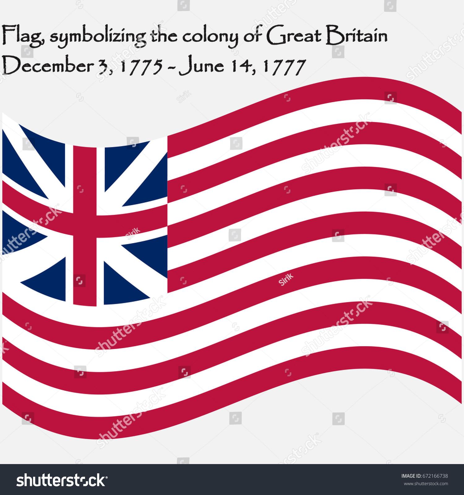 American Flag Missouri Flag Symbolizing Colony Vector de ...